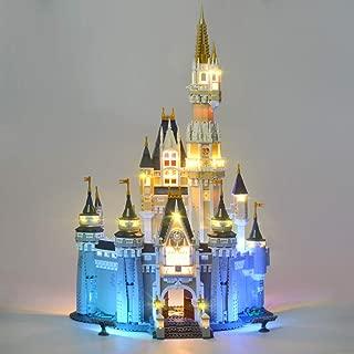 WYY Creativo DIY Luminoso Building Blocks Juego de Luces para el Castillo de Cenicienta Princesa Ciudad Modelo, Set de iluminación LED Compatible con Lego 71040 (No Incluido el Modelo)