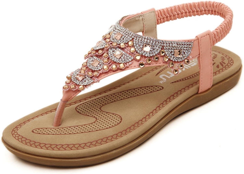 Btrada Sandals for Women Summer Flats shoes Bohemia Sandals Clip Toe Flip Flops