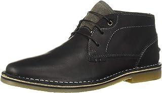 Steve Madden حذاء Hinton Chukka للرجال ، جلد أسود ، 8. 5 M US