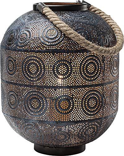 Kare Design Bodenleuchte Sultan 30cm, orientalische Leuchte, Stehleuchte, Tischleuchte schwarz, Laterne mit Henkel, (H/B/T) 30x23x23cm