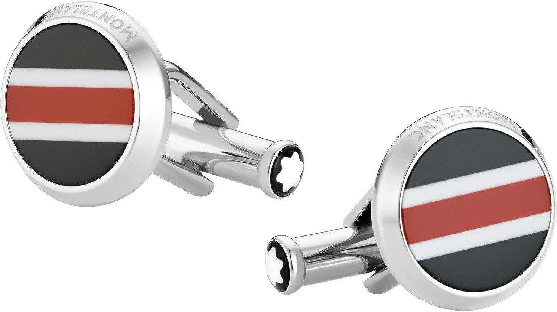 MONTBLANC Stainless Steel Round Cufflinks 118596