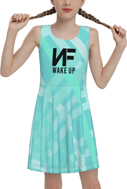 SDGhgHJG Nf-Wake-Up Sleeveless Dress for Girls Casual Printed Vest Skirt