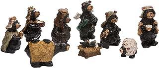 Kurt Adler Resin Nativity Bear, 4-Inch, Set of 9