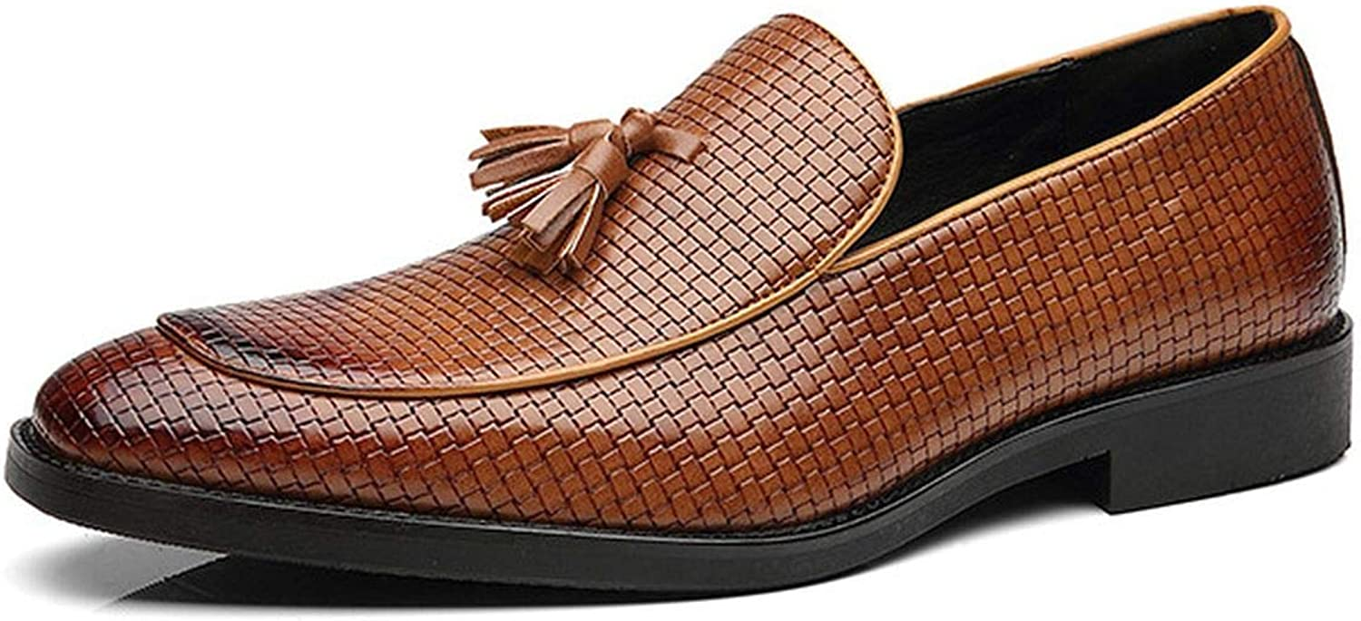 New-Loft-CA Men shoes Luxury Classic on Formal Wedding for Men Oxfords Hombre Weaving Leather shoes