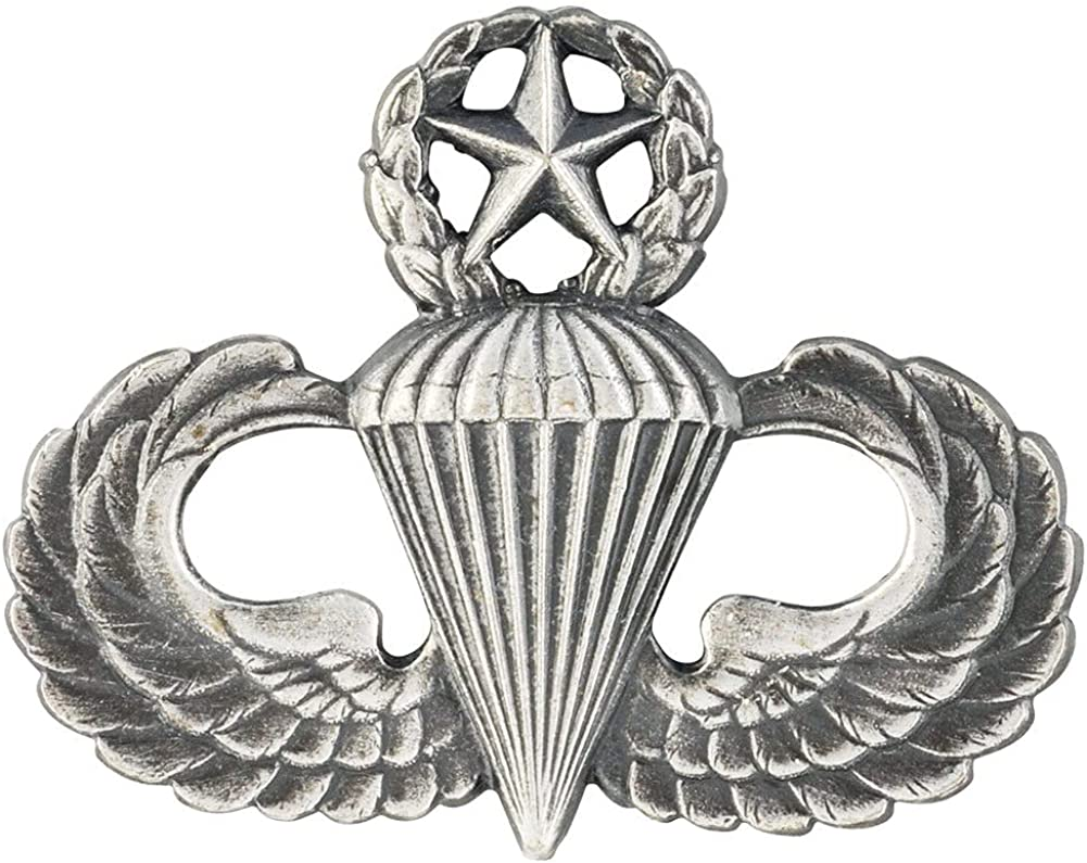 Army Sales results No. 1 Master Parachute Badge Ox Full Fashion Sil Size