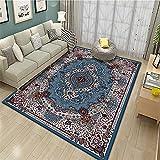 alfombras de baño Alfombra Azul, bebé rastreo Anti-Fatiga Alfombra cálida antibacteriana alfombras Dormitorio pie de Cama -Azul_60x90cm