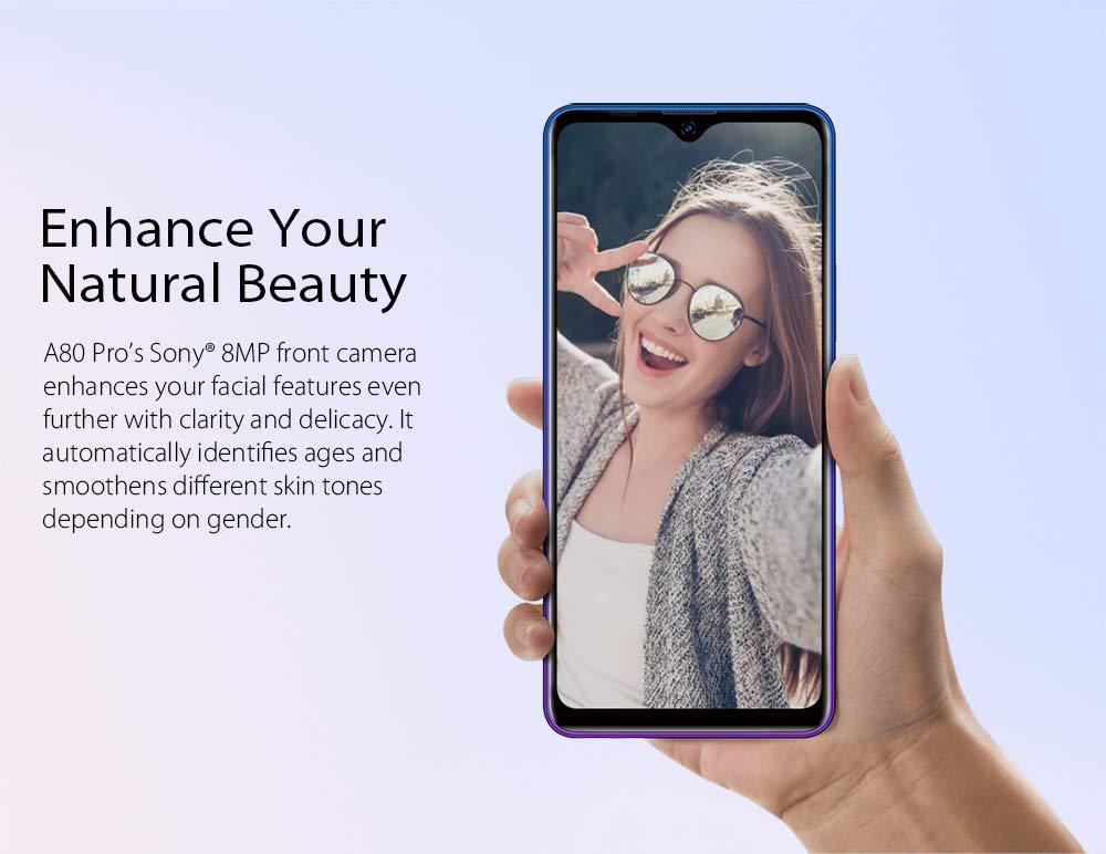 Blackview A80 Pro 4G Móviles 2020, Android 9.0 Smartphone Libres Face ID, 6,49 HD Display, 4GB +64GB, 4680mAh Batería Telefono Dual SIM, Móvil Libre 128GB TF Ampliable 13MP + 8MP (EU Versión)
