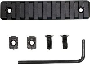 HooGou 9 Slots Picatinny Weaver Rail Section Aluminum for M-LOK/MLOK Handguards Compatible Systems Mount (1 Pack)