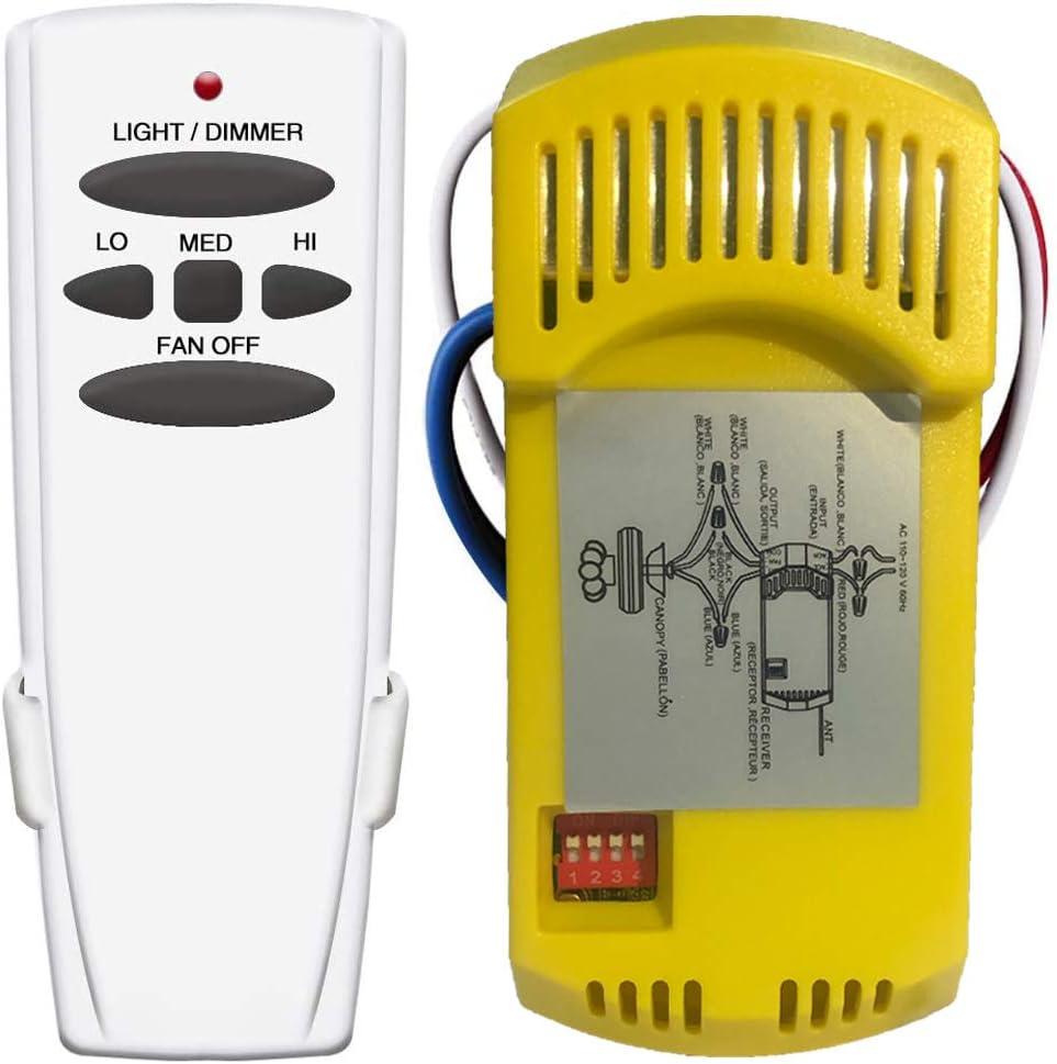 Ceiling Fans & Accessories Ceiling Fan Remote Control Kit ...
