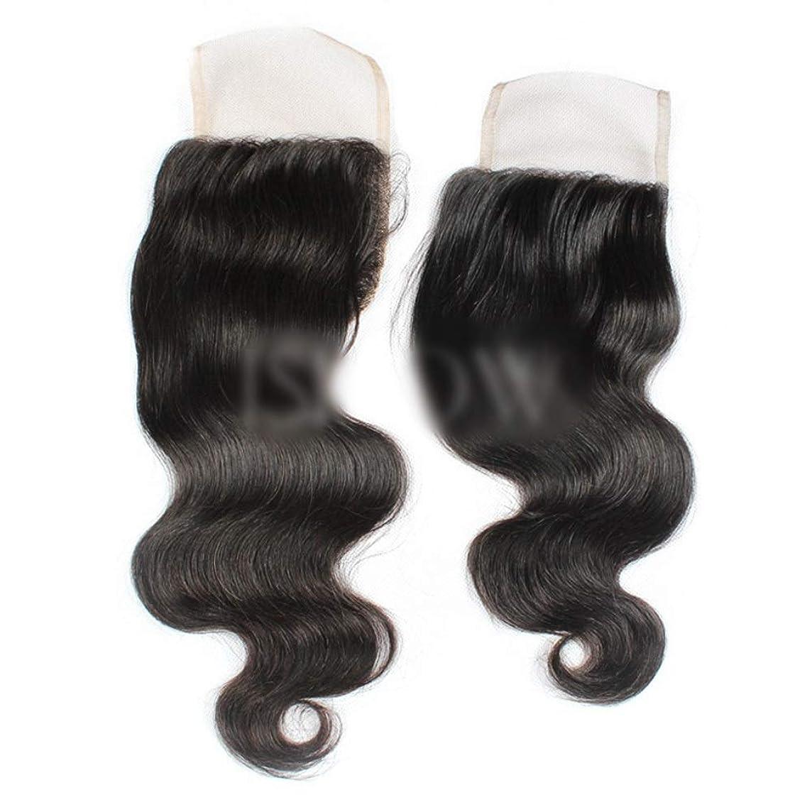 おっと運ぶ従順なBOBIDYEE ブラジル実体波無料パート4×4レース前頭閉鎖人間の髪の毛の自然な黒い色(8インチ-20インチ)合成髪レースかつらロールプレイングかつらロングとショートの女性自然 (色 : 黒, サイズ : 20 inch)