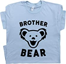 Youth/Kids Brother Bear T Shirt New Big Worlds Best Brother Tee Okayest Brother Funny Bro Tshirts