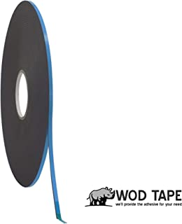 WOD DC-PEF06P High Performance Double Coated Window Glazing Foam Tape, High Adhesion Level, Weather Resistant, Black (Available in Multiple Sizes & Colors): 1/4 in. Width x 150 Yards (Pack of 1)