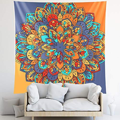 Tapiz de mandala tapiz colgante de pared Hippie bohemio decoración del hogar tapiz decoración de pared 150x150cm