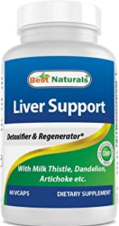 Best Naturals Liver Cleanse Detox & Support Formula with Milk Thistle Silymarin, Beet Root, Artichoke, Dandelion Root etc ...
