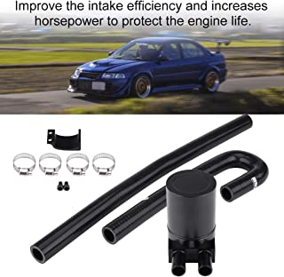 Aluminum Oil Catch Can Reservior Automotive Replacement Catch Can Breather Tank Kit Compatible with N54 335i 135i E90 E92 E82 2006 2007 2008 2009 2010- Black