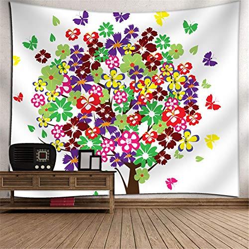 Heeboode Tapestry Wall Hanging,Tapiz psicodélico Bohemio Hippy árbol G3028 Tapiz Dormitorio Sala de Estar hogar Tapiz de Arte,Estera de Picnic al Aire Libre de la Toalla de playa-75x95cm(29x37in)