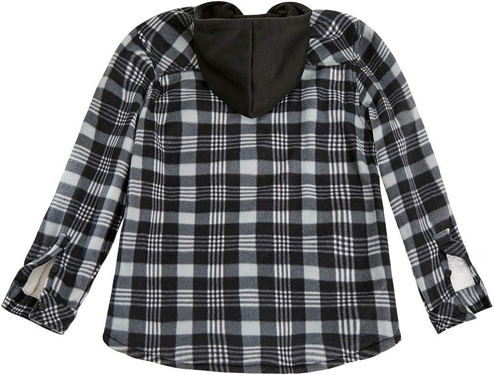 MADHERO Mens Flannel Jacket Winter Sherpa Fleece Lined Plaid Shirt Outerwear