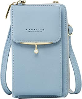 Aeeque Crossbody Bags for Women, Leather Phone Bag Women Clutch Purses Handbag