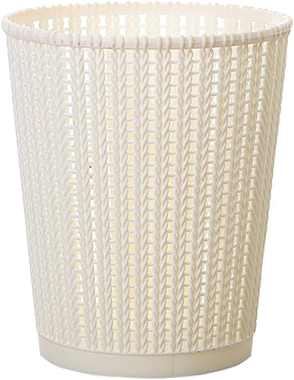 JTWJ Haushalt küche Bad Wohnzimmer große Mode kreative coverless papierkorb mülleimer 8L mehrfarben optional (Farbe   Beige) B07MT3MR6K | Deutschland Store