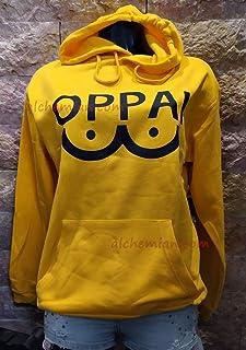 Oppai felpa gialla hoodie One Punch Man Saitama