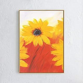 zlhcich Moderno Minimalista Pintura al óleo Girasol Pintura núcleo sin Marco decoración B 50 * 100