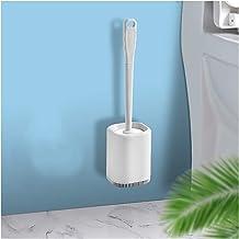 Toiletborstel Toiletborstel Siliconen Borstel Hoofd zal het haar niet vergaren, gemakkelijk te reinigen op de vloer staand...