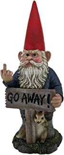 garden gnome with leave sign