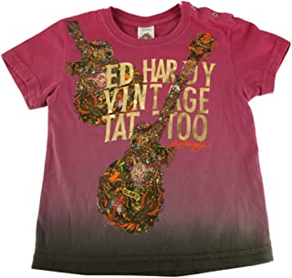ca6d2fcd3 Ed Hardy T Shirt Toddler Kids Rare Vintage Tattoo Collage Guitar T Shirt New