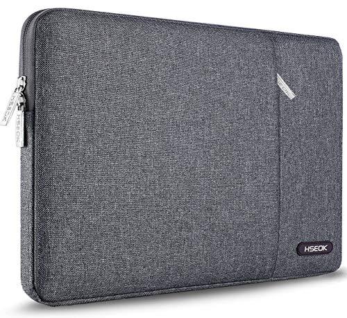 HSEOK 15,6 Zoll Laptop Hülle Tasche,Stoßfeste Wasserdicht PC Sleeve kompatibel mit die meisten 15,6 Zoll Laptops Dell/HP/Lenovo/Acer/Ausu, Leinen Grau
