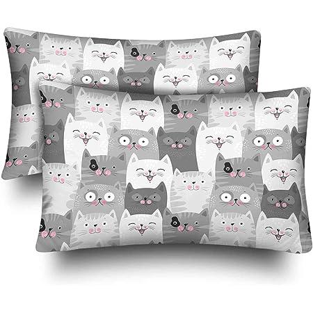 Travel Pillow Case  Standard Pillow Case  Love all the Cats