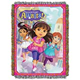 Nickelodeon Dora & Friends, Adventure Awaits Woven Tapestry Throw Blanket, 48' x 60', Multi Color