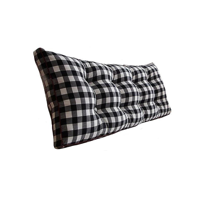 ブルーベルサイレントがっかりするDall バックレスト枕 背中クッション ベッドヘッドクッション サポートベッドサイドクッション コットンソフトバッグ 読書用背もたれヘッドボードクッション 120cm