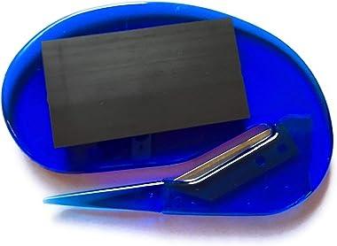 Magnetic Letter Opener Plastic Razor Blade Paper Knife/Envelope Slitter Set in Sharp with Magnets (Blue)