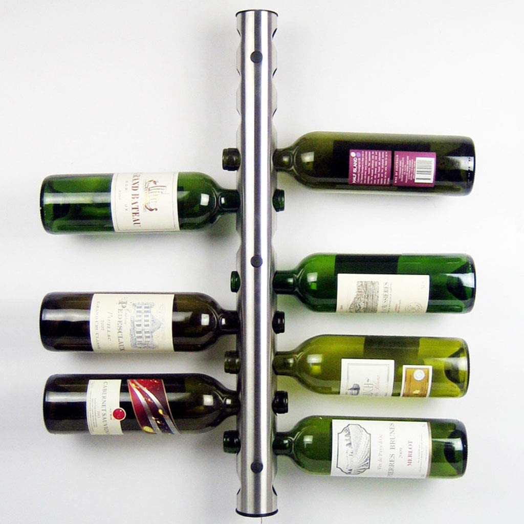 Wall 2021 autumn and winter new Seasonal Wrap Introduction Mounted Wine Rack - Display Bottle Steel Stainless Tub