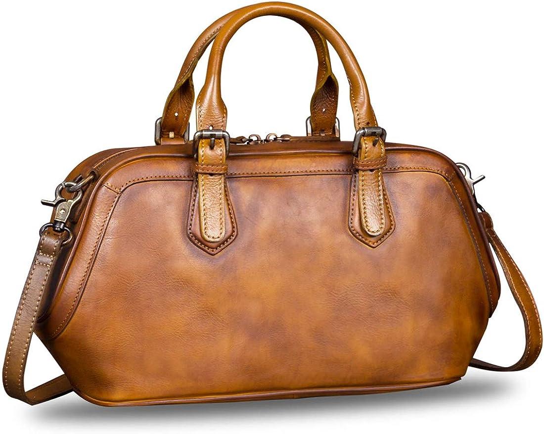 Genuine Leather Bags for Women Top Handle Handmade Handbag Vintage Style Crossbody Purses