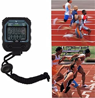 Biscount Digital Professional Athletics Stopwatch timer alarm 3 Rows 100 Laps 1/1000 second Digital Sport countdown timer online PC80