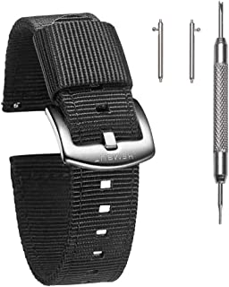 Torbollo Quick Release Watch Bands - Choice of Color, Width (18mm, 20mm, 22mm or 24mm) - Watch Straps, Quality Nylon Strap...