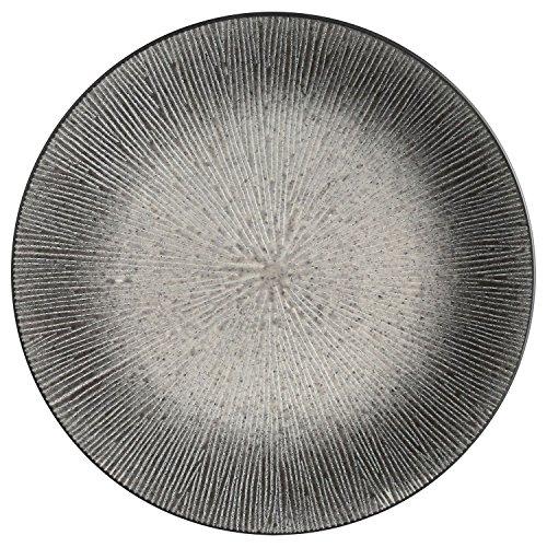 B&W Cuisine Assiette Plate Atelier - Céramique - Gris