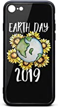 BoDu iPhone 7 case iPhone 8 Case Happy Earth Day Sunflower TPU Protective Shockproof Back Cover for iPhone 7 iPhone 8