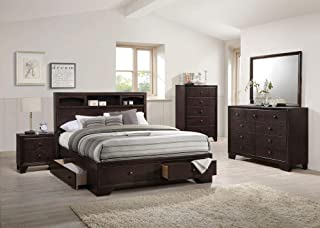 ACME Madison II Espresso Eastern King Bed with Storage