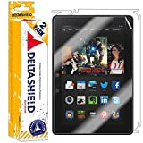 DeltaShield Full Body Skin for Amazon Kindle Fire HDX 8.9 inch (WiFi+LTE)(2-Pack)(Screen Protector Included) Front and Back Protector BodyArmor Non-Bubble Military-Grade Clear HD Film
