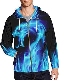Custom Unique Design Men's Zipper Hoodies Sweatshirt