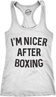 Crazy Dog T-Shirts Womens Tank Im Nicer After Boxing Tanktop Funny Sarcastic Fitness Punching Bag Sleeveless