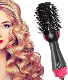 برس خشک کن مو خشک کن سشوار و حجم دهنده سایزر ، سشوار برقی گرم سرامیکی سشوار برقی ، برس صاف کننده 3 در 1 ، از بین رفتن گره های مو باعث کاهش موخوره و استاتیک برای موهای صاف و موج دار می شود