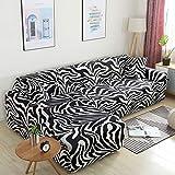 MKQB Funda de sofá de combinación Flexible, Funda de sofá en Forma de L de combinación de Esquina, Funda de sofá de decoración del hogar para Sala de Estar NO.17 4seat-XL- (235-300cm)