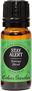 Edens Garden Stay Alert Essential Oil Synergy Blend, 100% Pure Therapeutic Grade (Highest Quality Aromatherapy Oils- Congestion & Energy), 10 ml