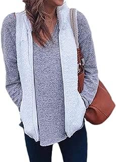 Womens Sherpa Fleece Vest Winter Coat Zipper Outwears Sleeveless Warm Jacket
