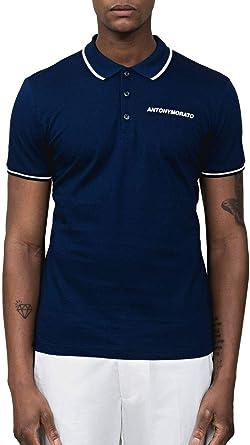 Antony Morato Polo Piquet Azul Hombre: Amazon.es: Ropa