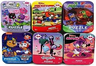 6 Collectible Puzzle Tins Paw Patrol Cardinal 24 48 Pieces Ages 5+ Vampirina, PJ Masks, Minnie, Mickey, Hatchimals Bundle Gift Set