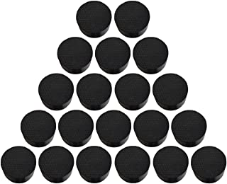 Magarz Natural Rubber Flower Pot Feet Invisible Flower Pot Mat Plant Pots Risers Pad Black 20 or 40 Pack (40)